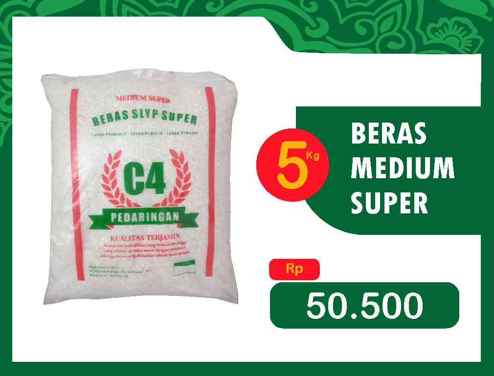 BERAS MEDIUM SUPER 5 Kg