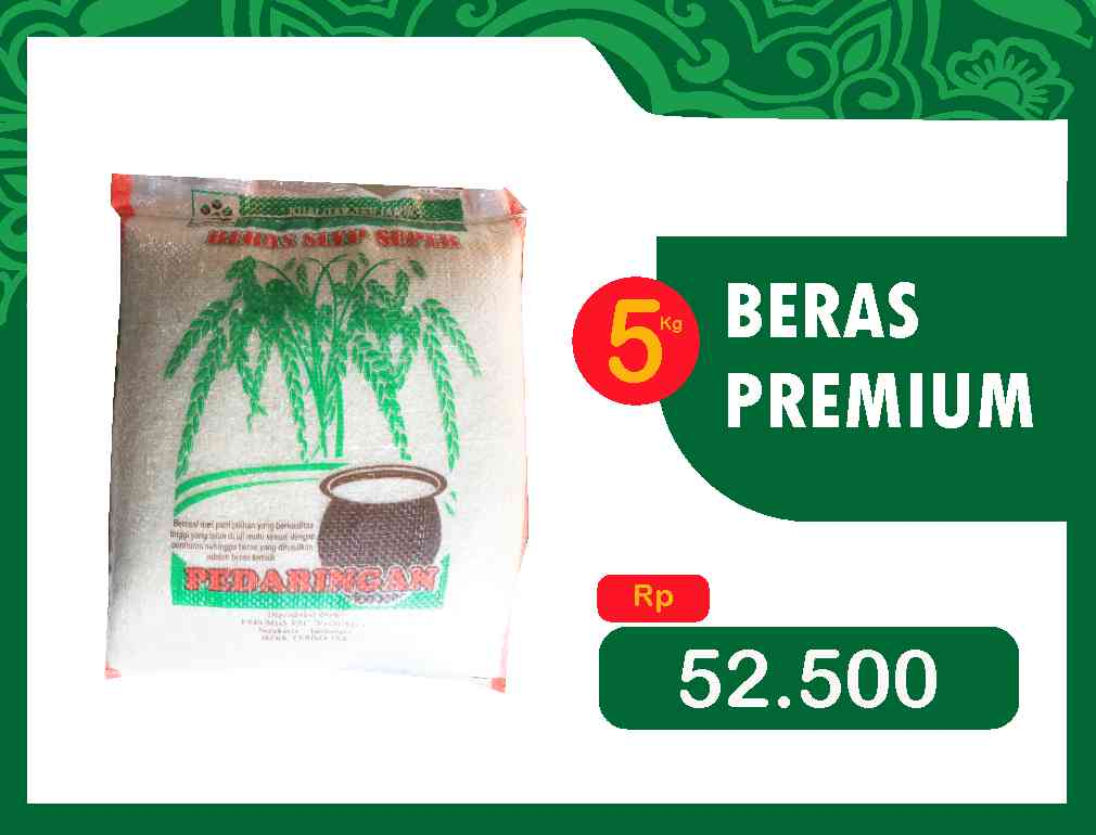 Beras Premium kemasan @5kg